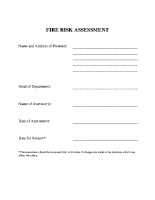 Fire Risk Form