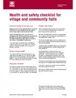 H & S Checklist