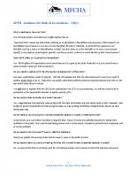 GDPR – MFCHA FAQ's