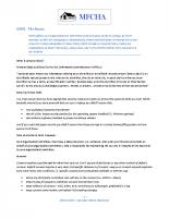 GDPR – MFCHA The Basics